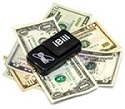 Photo of iBill reader and money